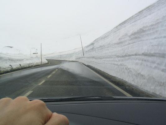 Rijden door bergen van sneeuw                                                                                2005