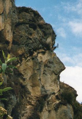 Gezicht in de rots - Ingapirca