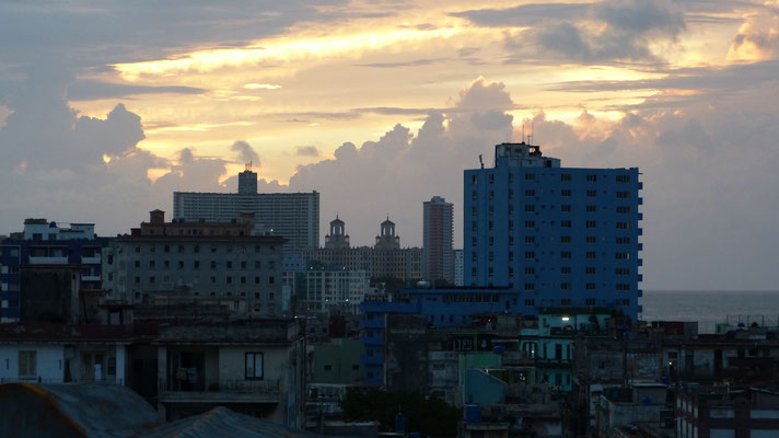 Zonsondergang over Havana