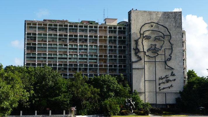 Ministerie met beeltenis van Che Guevarra