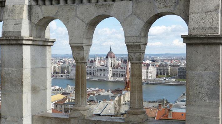Prachtig uitzicht op het Parlementsgebouw