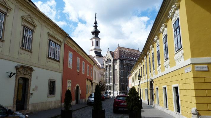 Smalle straatjes en kleurrijke huizen op de Burchtheuvel