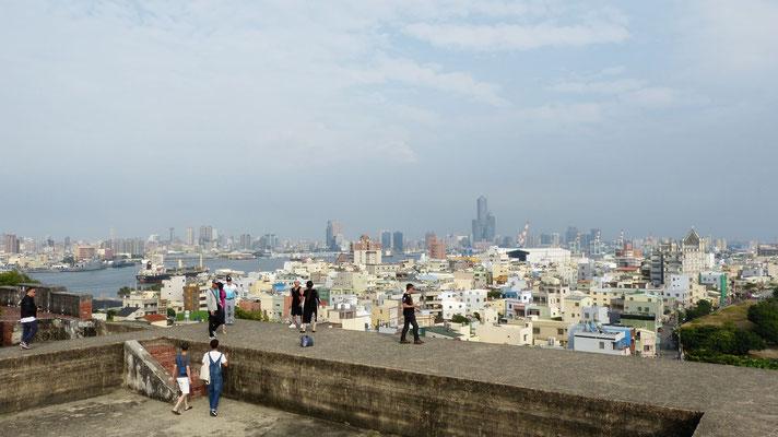 Uitzicht over Kaohsiung vanaf het fort