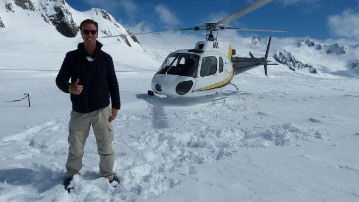 Op de Fox gletsjer