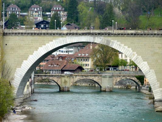 Nydeggbrücke met de Untertorbrücke