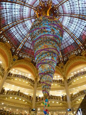 Kerstversiering bij Galeries Lafayette