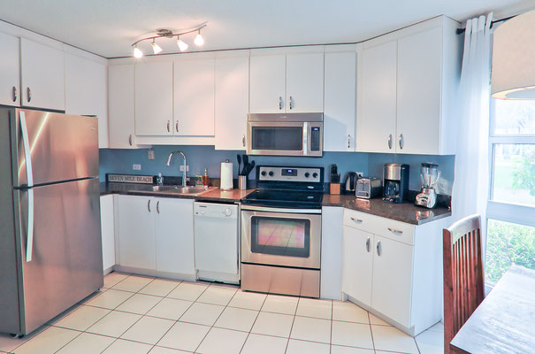 Cayman Reef #36 Kitchen with Dishwasher and Stainless Appliances
