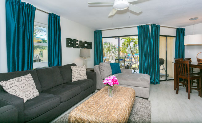 Cayman Reef #57 Living Room with Queen Sleeper Sofa
