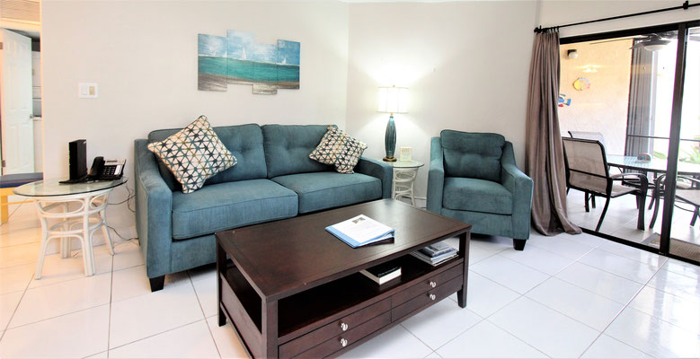 Cayman Reef #5 Living Room with Queen Sofa Bed