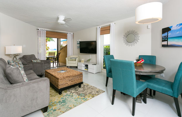 Cayman Reef #17 Dining and Living Area