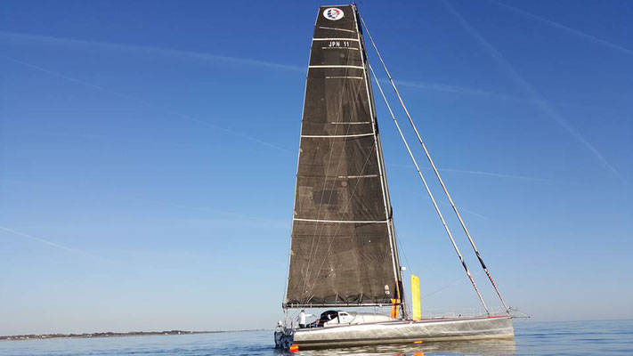 Left Concarneau to New York with an old heavy sails