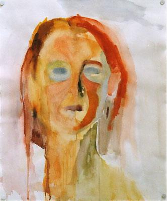 Portrait E. Aquarell 57 x 47 cm