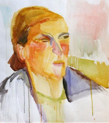 Portrait S. Aquarell 49,5 x 58,5 cm