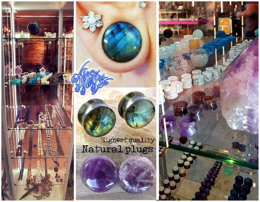 Blue Magic Pins piercing tattoo shop Genk Belgium biggest piercing assortment tunnels plugs navel septum ear nose lip tongue