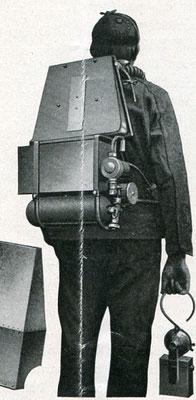 Amerikanischer Gibbs - Apparat 1915. Die Sauerstoffzufuhr geschieht durch Saugwirkung