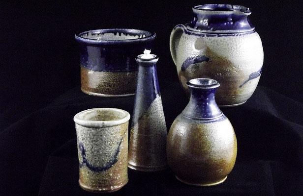 Kobaltblaue Keramik