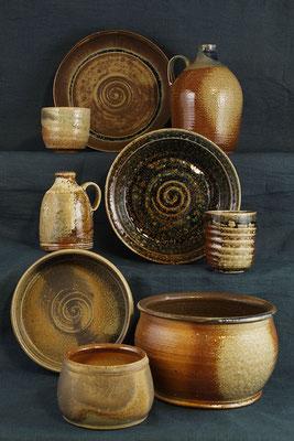 Keramiken aus dem Holzbrandofen