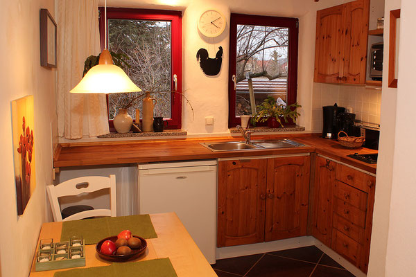Küche der Ferienwohnung