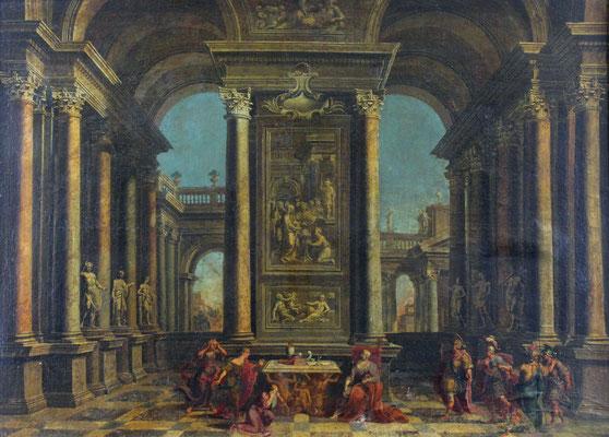 Adjugé 17 100 € - ORLANDI Stefano, attribué à, Scène animée dans un palais antique, huile sur toile, 96 x 132 cm