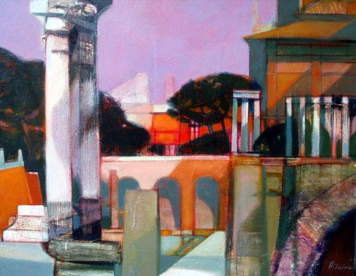 Adjugé 15 760 € - HILAIRE Camille, Soir sur Rome, huile sur toile, 73 x 92 cm