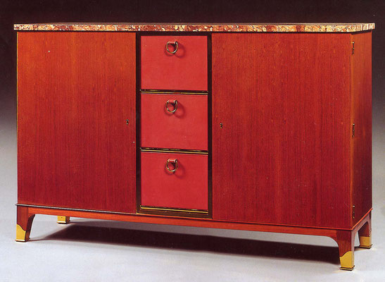 Adjugé 35 820 € - DUPRE-LAFON Paul, MEUBLE de rangement, 115 x 185 x 52 cm