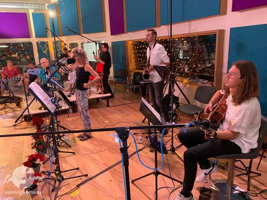 Blick aus Sicht der Cominghome-Band; Christian, Bianca, David.