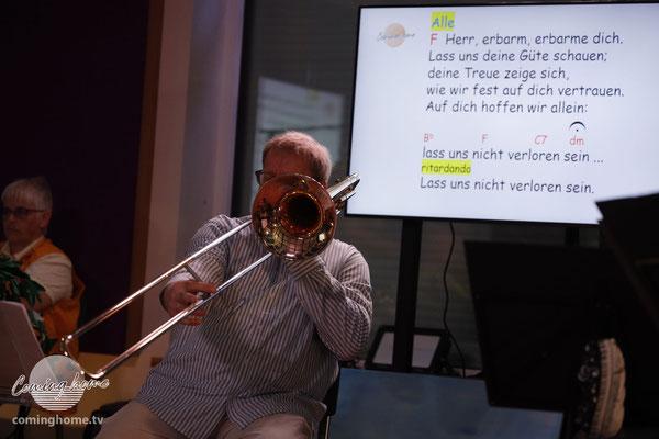 Der Profi an der Posaune: Markus Lenzing! Butterweich - und auch fortissimo. Jeder Ton sitzt.