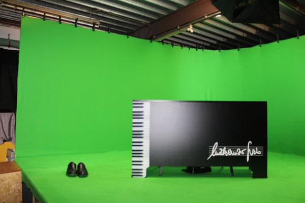 Green-Screen mit Schuhen