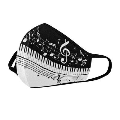 Diese Masken hielten wir für alle Musiker bereit.