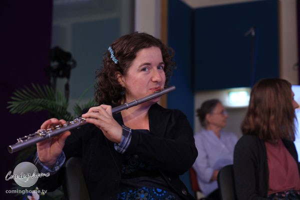 Sie glänzte an der Querflöte und am Klavier, Debora Kohler.