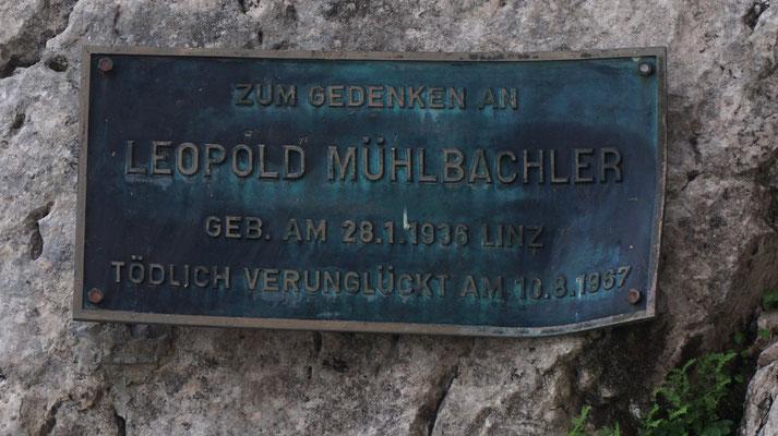 Leopold Mühlbachler Verunglückt 10.08.1967 Bergunfall Priel Nordwand