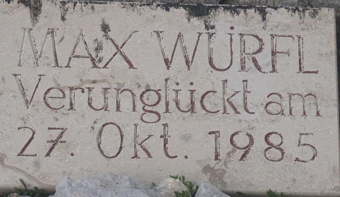 Max Würfel Verunglückt 27.10.1985 Bergunfall Schermberg Nordwand
