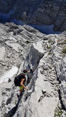 Kletterstellen zum HP-Kogel