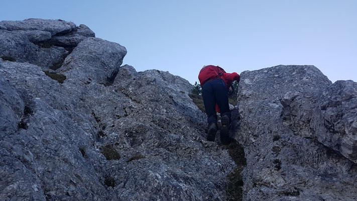 Wegen eines Felsabruch war auch hier Schluß ca.1700m