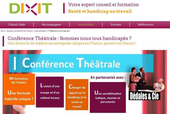 Conférence théâtrale Dixit | Dédales & Cie.