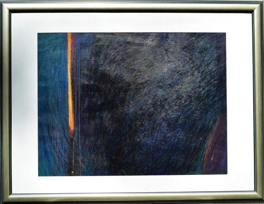 Michael Blaszczyk, Titel: Cluster-Phag 2, 1997, Ölkreide auf Papier, 68 x 88 cm (mit Rahmen)