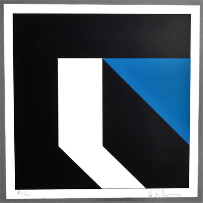 H. H. Zimmermann, Titel: Weißer Vorsprung, 1979, Siebdruck, 30 x 30 cm