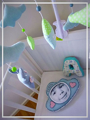 Kissen, Kinderzimmerdekoration, Kuschelkissen, Babykissen, Wlkenkissen, Wolke, Namenskissen, Kinderkissen, Fotokissen