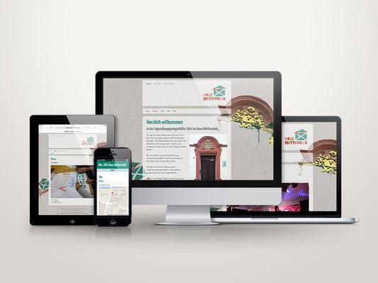 Webseite auf verschiedenen Ausgabegeräten