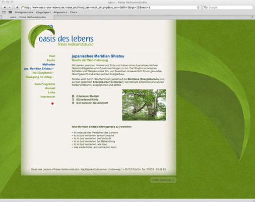 Webdesign, Informations-Seite