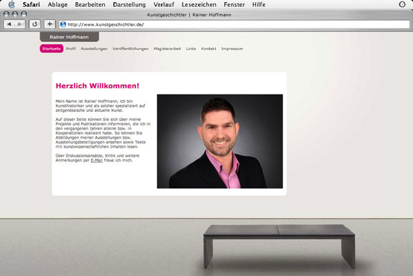 Webdesign, Startseite