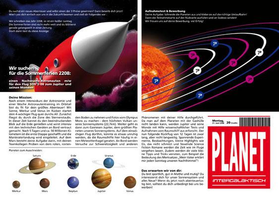 Gewinnspiel, offen DIN-A4, 4-seitig, Seiten 2+3