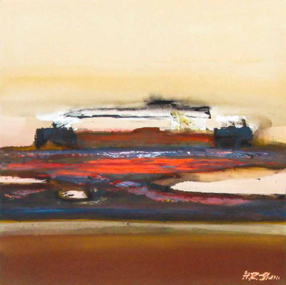 "#1017, ""Gestaltungswille"", 2015, 80x80cm, Acryl auf Naturleinwand, 1.950,-€"