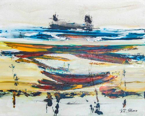 "#1006, ""Wiegenlied der Expression"", 2014, 120x150cm, Acryl auf Leinwand, 2.850,-€"