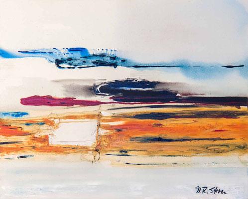"""#599, """"Seelenbewanderung"""", 1995, 80x100cm, Acryl auf Leinwand, 1.750,-€"""