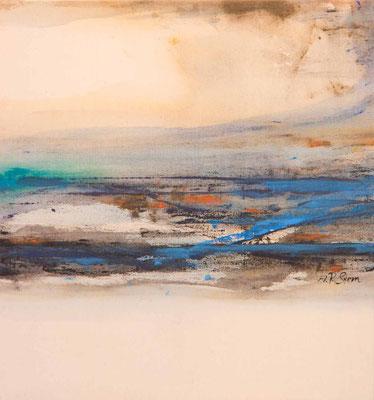 """#648, """"In der Ferne so nah II"""", 2007, 80x75cm, Acryl auf Leinwand, 1.850,-€"""