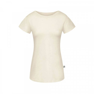 Natural Grown T-Shirt Hanf Damen Offwhite Vorderansicht € 49,90