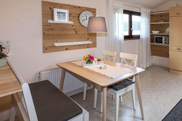 Küche Ferienwohnung Lindenbaum Obsthof Isenmann