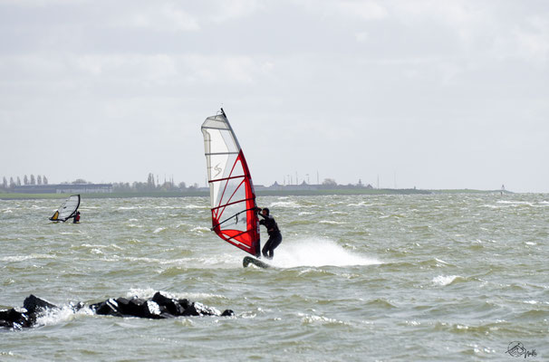 Windsurfing at Ijselmeer / Netherlands