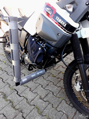 Surfrack motorbike - Yamaha Ténéré - mounting in the front